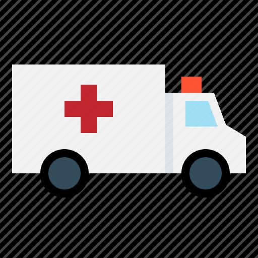 accident, ambulance, doctor, emergency, hospital, transportation, van icon