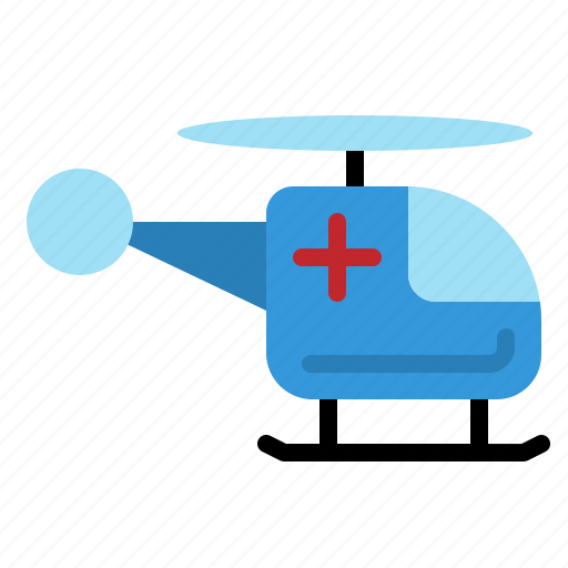 emergency, fast, helicopter, hospital, medical, rescue, transportation icon