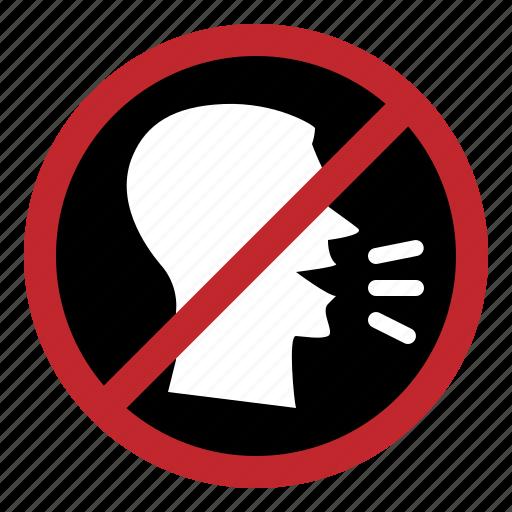 hospital, quiet, silent, speak, stop, voice icon