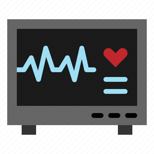 cardiogram, ecg, ekg, electrocardiogram, heart, hospital, pulse icon