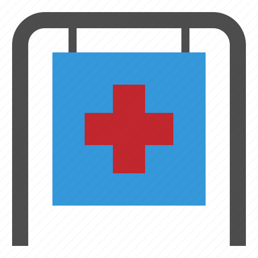 aid, cross, help, hospital, medical, red icon