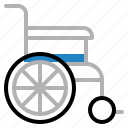 chair, handicapped, hospital, medical, patient, wheel icon