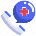 call, care, emergency, health, hospital, phone, receiver icon