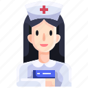 assistance, doctor, hospital, job, medical, nurse, people icon