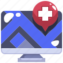 browser, computer, hospital, medical, page, web, website icon