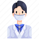 clinic, doctor, job, medical, profession, scientist icon