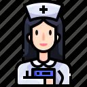 assistance, doctor, hospital, job, medical, nurse, people icon