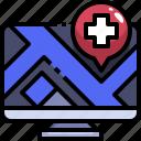browser, computer, hospital, medical, page, web, website
