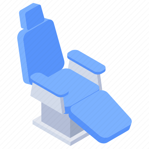 cot, dental chair, dentist clinic, hospital bed, patient bed, stretcher icon