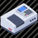 cash register, cash terminal, cash till, cashier machine, pos, swipe machine icon