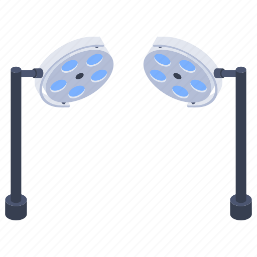 hospital services, hospital setup, medical equipment, operation theatre, surgical lights icon