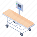 hospital bed, hospital machine, patient x ray, radiology, x-ray icon