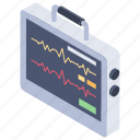 cardiogram, ecg, ecg machine, ecg monitor, heart rhythm, heartbeat monitoring icon