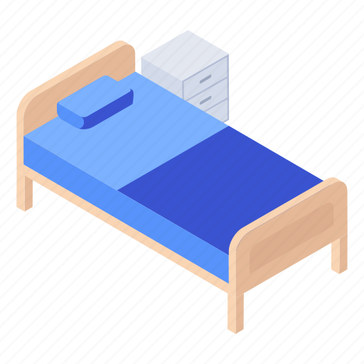 cot, emergency bed, hospital bed, patient bed, stretcher icon