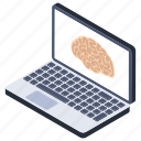brain in laptop, brain screening, brain theme, ct scan, human brain, neuro report icon