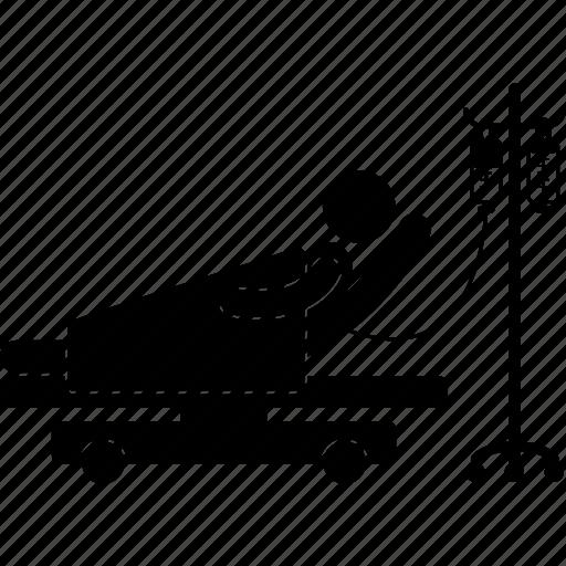 drip, equipment, hospital, patient, resting, sick, treatment icon