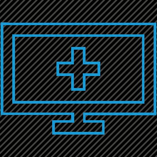 computer, health, hospital, icon, medical icon
