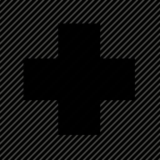 cross, drugstore, healthcare, hospital, pharmacy, red cross, sign icon