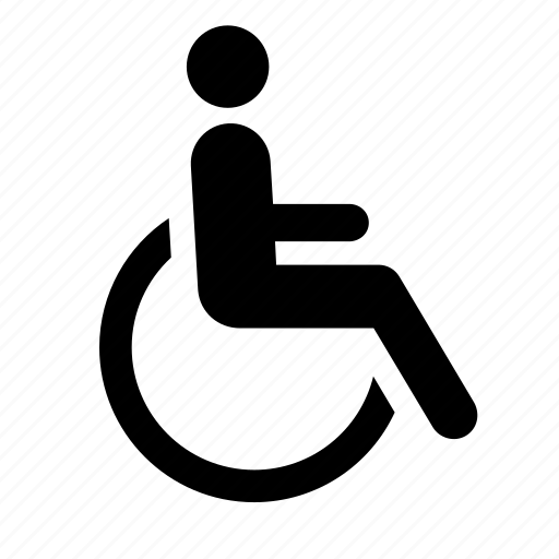 disabled, handicapped, healthcare, hospital, man, sign, wheelchair icon