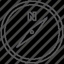 adventure, compass, location, place, tour, travel, trip icon