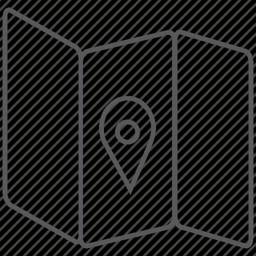 adventure, destination, location, map, place, travel icon