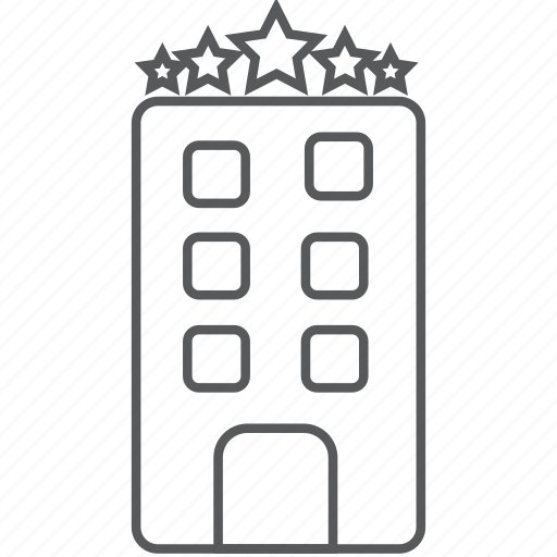 building, five star hotel, hotel, office, star hotel, vacation icon