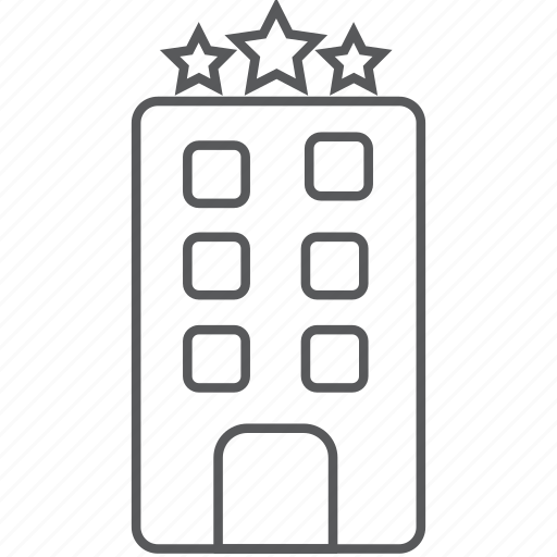 courthouse, hotel, leisure, office, police station, star hotel, vacation icon