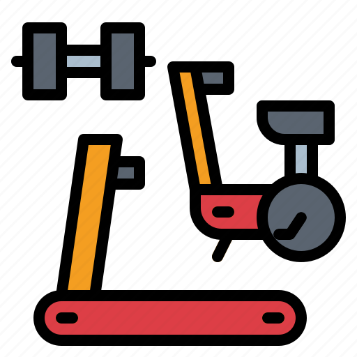 bike, dumbbell, fitness, gym, stationary icon
