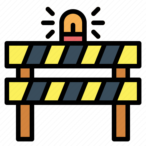 barrier, caution, construction, obstacle icon