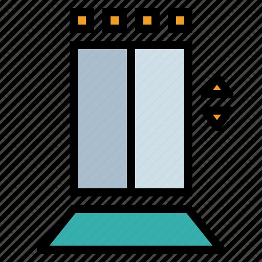 doors, elevator, lift, miscellaneous icon