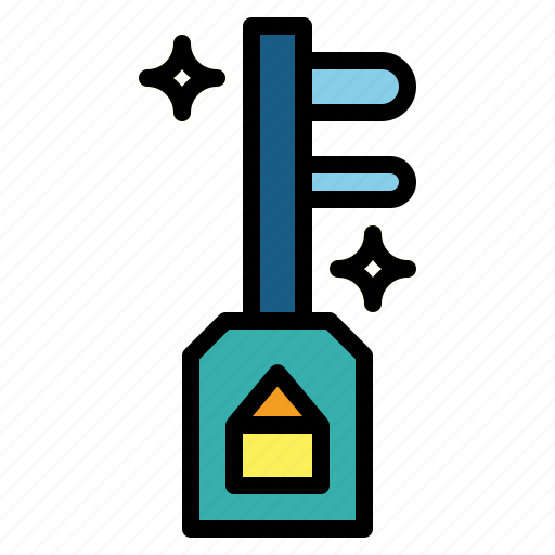 door, key, pass, security icon