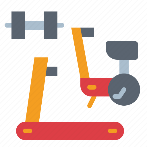 bike, dumbbell, fitness, gym, stationary icon