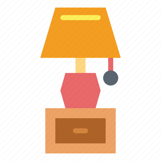 bedside, drawer, lamp, table icon