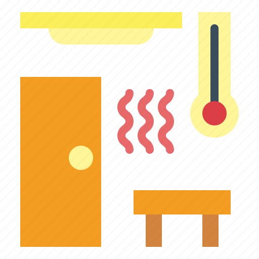 hot, relax, sauna, spa icon
