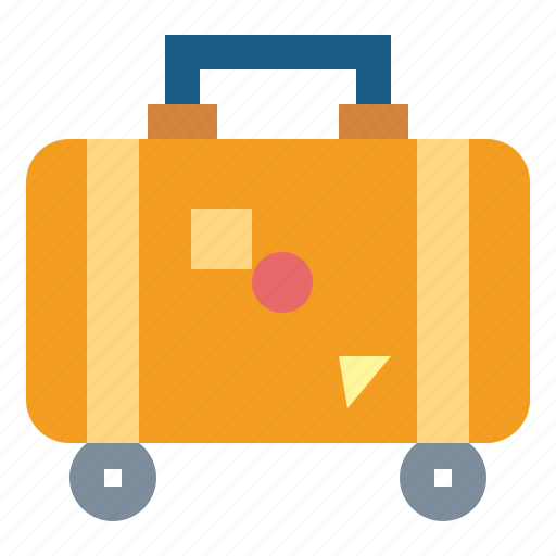 baggage, luggage, suitcase, travelling icon