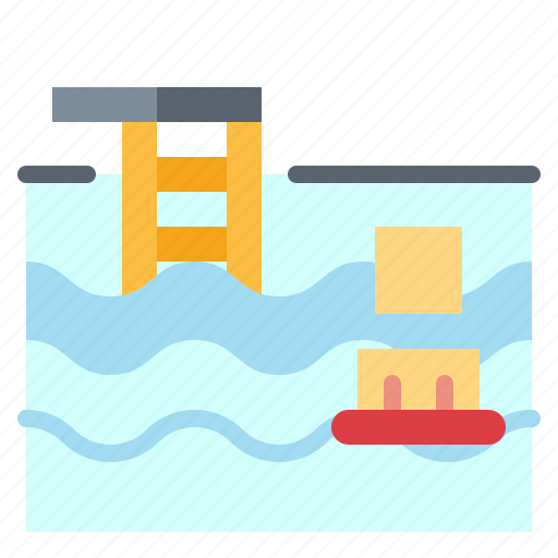 park, pool, swimming, villa, water icon