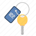 hotel key, key, room key, travel, travel key icon
