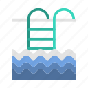 plunge, pool, swimming bath, swimming pool, travel, wading pool icon