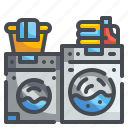 cleaning, clothes, electronics, household, iron, laundry, washing icon