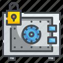 bank, hotel, locker, safebox, savings, security, tools icon