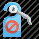 disturb, do, door, hanger, hotel, not, signaling icon