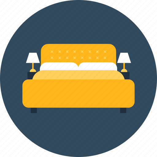 bed, bedroom, comfortable, furniture, household icon