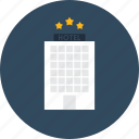 buildings, holidays, hostel, hotel, stars, vacations icon