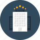 buildings, holidays, hostel, hotel, star, stars, vacations icon