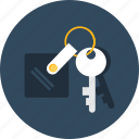 access, hostel, hotel, key, keys, room, security icon