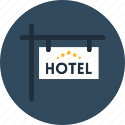 enter, hotel, motel, sign, signaling icon