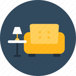 armchair, comfortable, furniture, household, livingroom, sofa icon