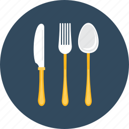 camping, cutlery, fork, knife, metal, spoon, tools icon