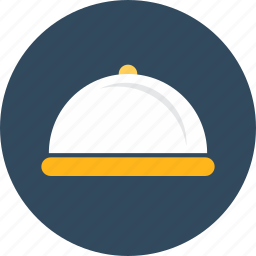 covered, food, hotel, room, service, tray icon