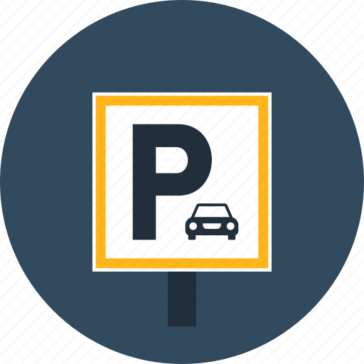 automobile, parking, sign, signaling, signs, vehicle icon